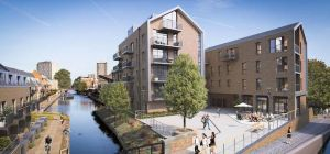 An artist's impression of the property development in the east end of London.
