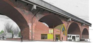 Artist's interpretation: The new Arch 2, Stepney Bank