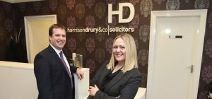 LR Colin Fenny, director and Laura Hallett Lea, associate solicitor at Harrison Drury