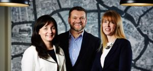 Jane Schofield (left) with fellow WorkPlace founders Adrian Stevenson and Louise Pollard
