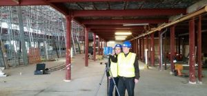 Team members from Adept Consulting Engineers using the laser point cloud scanning service.