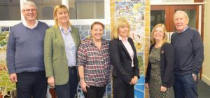 L to R: James Eaglesham of the County Durham Community Foundation with local residents Judith Wood,