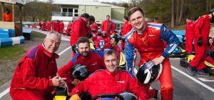 L-R: Jonathan Devito, Paul Kennaird, Jim Sanderson (in the kart), Adam Treacher.