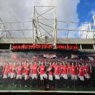 Front Face of Manchester United's Old Trafford Football Stadium