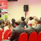 Urging collaboration: business gathered at Sunderland's Stadium of Light for the event
