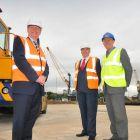 (from l-r): Matthew Hunt, director of Port of Sunderland; Cllr Paul Watson, leader of Sunderland Cit