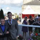 Frankie Dettori, renowned jockey and 24 year old AJ Swinbank
