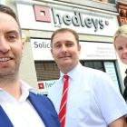 Gateshead-based Advantex's Simon Bartlett (left) and Richard Wells (centre) and Abby Lawson (right)