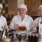 Beri Da team - Victoria, Angela and Anna prepare the fruity vinegar and chutneys ready to be sent to