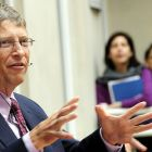 Bill Gates speaks to staff at DFID