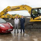 l to r Nissan's Vice President for Manufacturing in the UK, Kevin Fitzpatrick and Peter Howe, managi