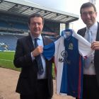 From left to right : Mike Cheston of Blackburn Rovers FC and David Gorton from PM+M