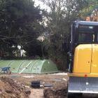 An RA Dalton Ltd. Installer on site